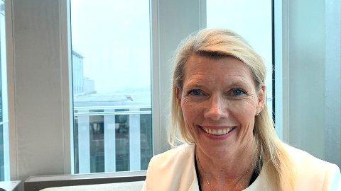 DEN NYE SJEFEN: Kjerstin Braathen ble presentert som ny konsernsjef i DNB i vår - hun overtok for Rune Bjerke 1. september.