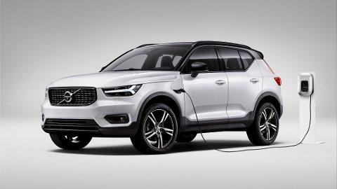 Den kompakte SUV-en XC40 er først ute når Volvo skal satse på elbil. Bildet viser for øvrig den ladbare hybridutgaven av bilen.