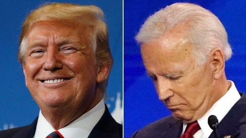 KAMPHANER: Donald Trump og Joe Biden.