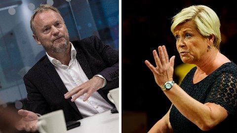 EIENDOMSSKATT: Raymond Johansen liker ikke Siv Jensens skattekutt. Nå slår hun tilbake.