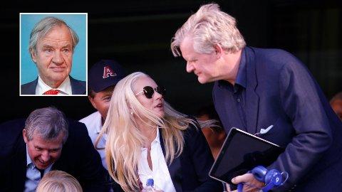 STYGG SMELL: Bjørn Kjos (innfelt) og Tor Olav Trøim - her med sin forlovede Celina Midelfart - har hatt et trøblete år pengemessig.