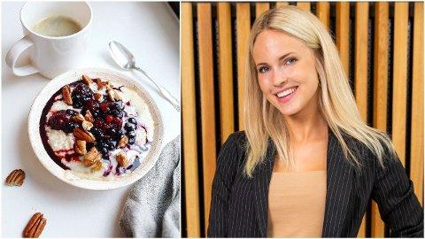 LIDENSKAP: Emilie Nereng har utdannet seg til å bli ernæringsrådgiver, og forteller nå hvilken mat hun sverger til under «Skal vi danse». Foto: Privat/Håkon Mosvold Larsen - NTB Scanpix