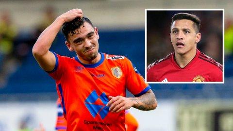 LA ROJA: Niklas Castro er tatt ut i samme landslagstropp som Alexis Sánchez.