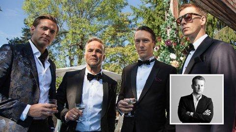 """AVVISER KOBLING: Investor Endre tangenes (innfelt) avviser kobling til de fire lyssky karakterene i NRK-serien """"Exit""""."""
