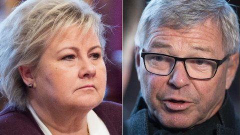 GA MEST: Kjell Magne Bondevik (KrF) til høyre prioriterte skattelettelser høyere enn Erna Solbergs regjering.