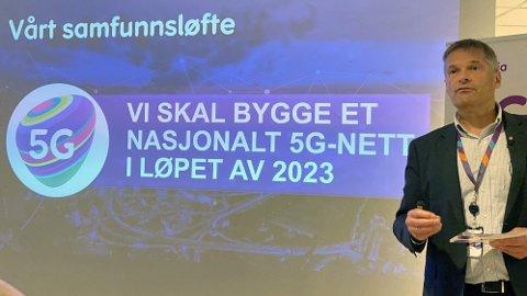 Telia-sjef Abraham Foss lover et fullt utbygget 5G-nett i løpet av 2023. Utrullingen starter til våren.
