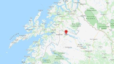 DØDSULYKKE: Ulykken skjedde like over svenskegrensa, i Abisko, natt til søndag.