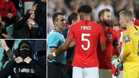 VEKKER REAKSJONER: Kampen mellom Bulgaria og England ble stoppet to ganger på grunn av hets mot spillerne fra tilskuere.