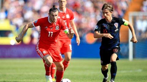 GODE VENNER: Gareth Bale og Luka Modric er venner og lagkamerater i Madrid. Søndag var de motstandere i landskamp mellom Wales og Kroatia.