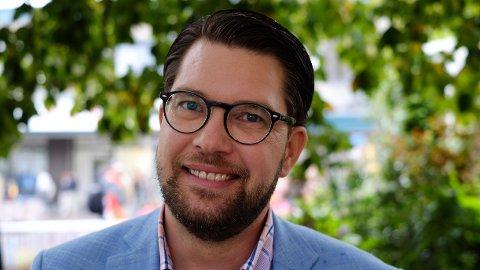 VOKSER: Sverigedemokraternas leder Jimmie Åkesson er vitne til at partiet hans er det raskest voksende i Sverige om dagen.