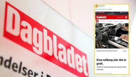 STENGT: Dagbladet måtte stenge nettsiden sin torsdag ettermiddag etter et mulig hackerangrep.