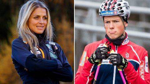 FORSKJELLIGE PLANER: Therese Johaug og Johannes Høsflot Klæbo trener på ulike steder i sesongoppkjøringen.
