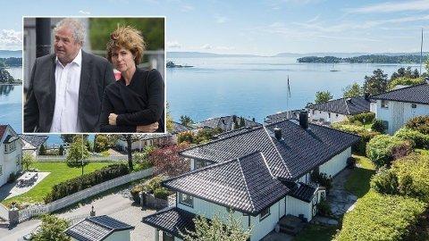 DRØMMEUTSIKT: Ernst Ravnaas har flott utsikt utover Oslofjorden fra villaen på Nesbru i Asker.