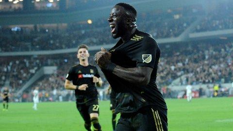 AVGJORDE: Adama Diomande scoret to mot LA Galaxy.