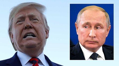 Donald Trump vurderer å vise Valdimir Putin og resten av verden bildene fra aksjonen som tok livet av IS-lederen.