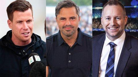 PROFILER: Jesper Mathisen, Jan-Henrik Børslid og Morten Langli er stadig å finne på norske TV-skjermer.