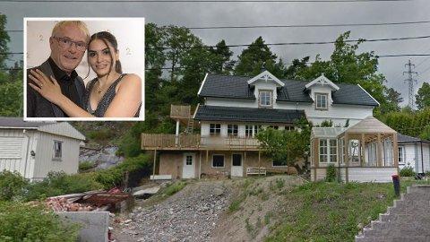 FLYTTER HIT: Dette huset i Halden blir det nye hjemmet til det mye omtalte paret.