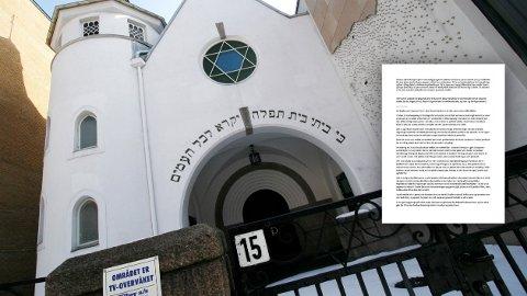 I Oslo-byrådets politiske program for de neste fire årene, skal byrådet vurdere boikott av «varer og tjenester som er produsert på område okkupert i strid med folkeretten av selskaper som operer på tillatelse fra okkupasjonsmakten.» Jøder i Norge mener vedtaket til byrådet er problematisk, og at boikott-bevegelsen (BDS) mot Israel har bidratt til mobbing og trakassering av jøder. På bildet: Den jødiske synagogen i Oslo.