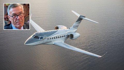 FLYR HØYT: Stein Erik Hagen har anskaffet en Gulfstream 280. Flyet har en rekkevidde som gjør at det kan ta Hagen helt til New York, hvor han har et par eiendommer.