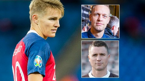 SÅ DET TIDLIG: Både Mads Hansen og Christian Gauseth tenker tilbake på treningene med Martin Ødegaard i Mjøndalen med glede.