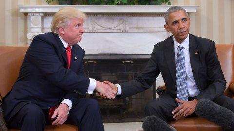 Det første møtet mellom påtroppende og avtroppende president i Det hvite hus fant sted 10. november i 2016.