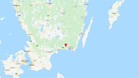 Ulykken skjedde i Ronneby, like ved den svenske sørkysten, lørdag ettermiddag.