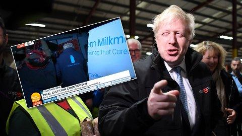 DIREKTE: Det bisarre opptrinnet med Boris Johnson går nå sin seiersgang på nett.