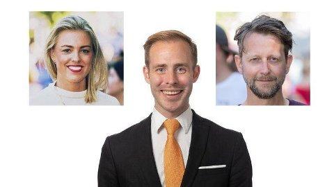 Vegard Rødseth Tokheim (i midten), Kaia Marie Rosseland og Helge Ytterøy L´Orange stiller seg kritiske til Arbeiderpartiets Anette Trettebergstuen og Jon Reidar Øyan.