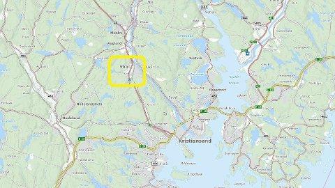 PÅKJØRT: Ulykken skjedde i Strai like utenfor Kristiansand onsdag.