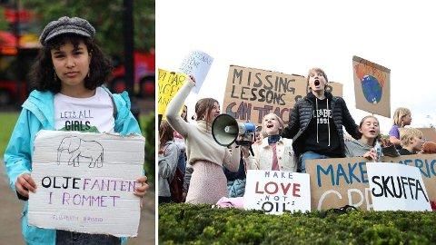 STARTET KLIMASTREIKENE: I januar 2019 kontaktet Tina Razafimandimby Våje (16) miljøorganisasjonene for å høre om ikke norske elever også skulle streike for klima. Noen måneder senere demonstrerte tusenvis av norsk ungdom for klima.