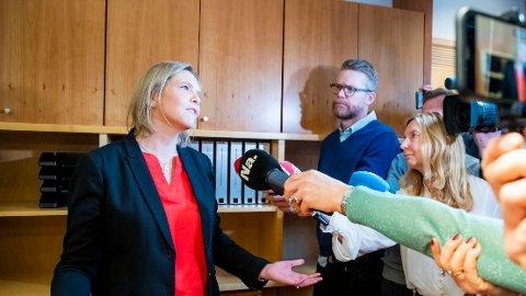 Oslo 20191218. Sylvi Listhaug (Frp) er utnevnt som olje- og energiminister etter Kjell Børge Freiberg (Frp). Onsdag overtar hun kontorene i olje- og energidepartementet i Oslo. Foto: Håkon Mosvold Larsen / NTB scanpix