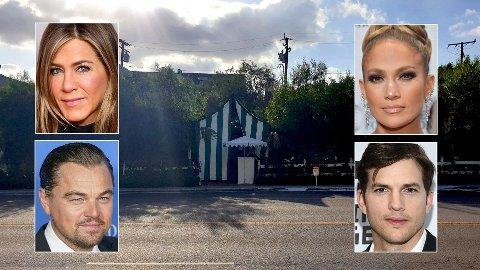 KJENDISTUNGT: Jennifer Aniston, Leonardo DiCaprio, Jennifer Lopez og Ashton Kutcher er bare noen som frekventerer San Vicente Bungalows.