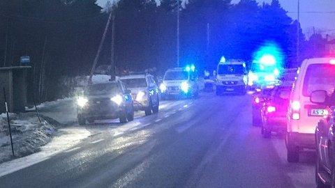 ULYKKE: Tre personer er kjørt til sykehus etter en kollisjon på Frei.