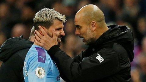 GODT FORHOLD: Pep Guardila (til høyre) mener at Sergio Agüero er uerstattelig.