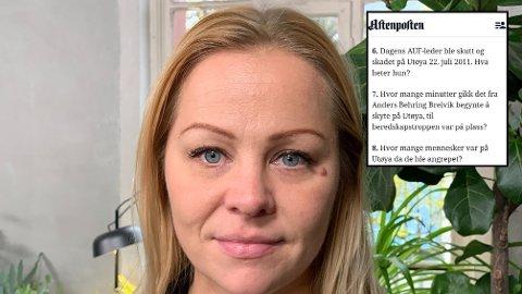 REAGERER: Disse tre spørsmålene i Aftenpostens julequiz mener Rødt-politiker Eivor Evenrud er taktløse.