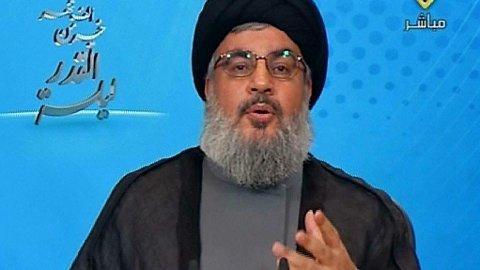 RASLER MED SABLENE: Hizbollah-leder lover at «motstandsfolk» vil hevne USAs likvidasjon av den iranske generalen Qasem Soleimani.