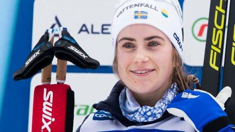 FERDIG: Ebba Andersson trekker seg fra Tour de Ski.