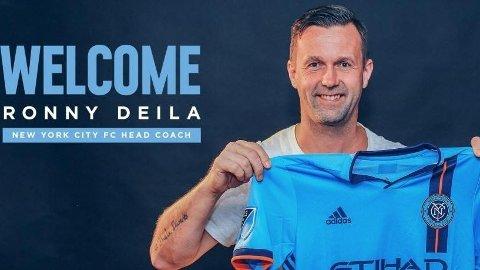 PRESENTERT: Ronny Deila ble presentert som ny New York City-trener mandag.