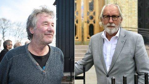 Nettavisen-kommentator Arild Rønsen (t.v.) og stortingsrepresentant Carl-Erik Grimstad (V).