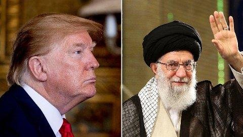 MAKTPERSONER: USAs president Donald Trump vsIrans øverste og åndelige leder ayatolla Ali Khamenei.