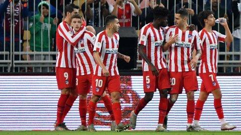 FINALEKLARE: Atlético Madrid er klare for finalen i den spanske supercupen etter å ha slått Barcelona torsdag.