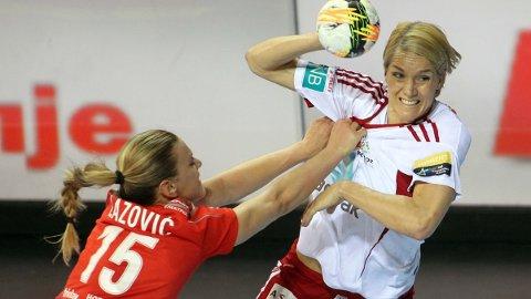 GLANSDAGER: Håndballen har profilerte homofile forbilder. Her Gro Hammerseng-Edin under en mesterligakamp i Skopje i 2016.