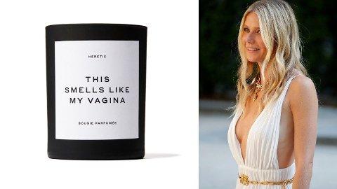 INTIM LUKT: Ingen tvil om at det nye duftlyset til Gwyneth Paltrow er noe for seg selv.