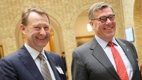 STOREIERE: Bjørn Rune Gjelsten og Stein Erik Hagen har begge store eierinteresser i børsraketten Ultimovacs.