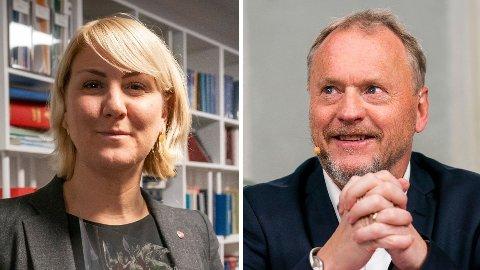 Tonje Brenna (Ap), fylkesordfører i Viken, og Raymond Johansen (Ap), byrådsleder i Oslo.