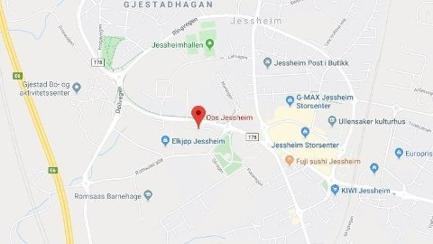 ARBEIDSULYKKE: En mann er hardt skadd etter en arbeidsulykke i Jessheim.