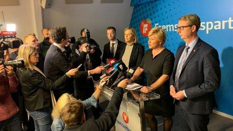 EXIT: Det var saken om IS-kvinnen som ble hentet til Norge som var utslagsgivende, sa Frp-leder Siv Jensen da hun kunngjorde at partiet går ut av Solberg-regjeringen. Nå får hun stor støtte fra egne velgere.