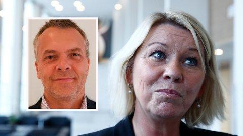 KRITISK: Rune Heimstad i Fair Group mener justisminister Monica Mæland (H) bør kutte langt mer i salærene i store inkassosaker.