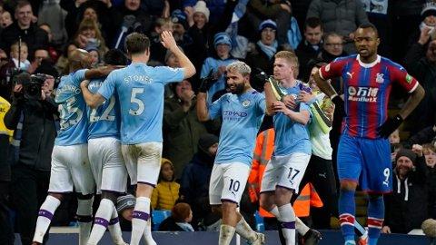 Alt tyder på at det blir mer jubel for Sergio Aguero, Kevin de Bruyne og City-spillerne etter søndagens bortekamp mot Tottenham.