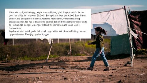 Samler inn: Mannen i 50-årene forteller at han hjelper mennesker på flukt. Ifølge han selv har han på kort tid fått inn mer enn 20.000 euro gjennom Facebook. Foto: Getty Images/Facebook